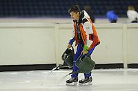 SCHAATSEN: HEERENVEEN: 02-10-2014, IJsstadion Thialf, Topsporttraining, Kip Carpenter (ass. trainer shorttrack NED), ©foto Martin de Jong