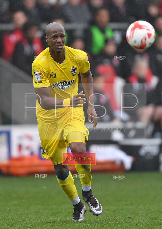 18/03/2017 Sky Bet League 1 Fleetwood Town v AFC Wimbledon<br /> <br /> Tom Elliott, AFC Wimbledon