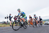 Picture by Allan McKenzie/SWpix.com - 04/09/2017 - Cycling - OVO Energy Tour of Britain - Stage 2 Kielder Water to Blyth - The breakaway climbs Winter's Gibbett.