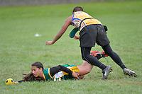 Action from the Ki o rahi Nationals at Te Whiti Park, Lower Hutt, New Zealand on Monday 28 April 2014.<br /> Photo by Masanori Udagawa. <br /> www.photowellington.photoshelter.com.