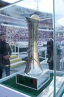 RECIFE, PE, 03.05.2015 - FINAL DO CAMPEONATO PERNAMBUCANO 2015 - SANTACRUZ X SALGUEIRO, Trofeu do Campeão do Campeonato Pernambucano 2015 durante a partida Santa Cruz x Salgueiro válida pela final do campeonato pernambucano 2015, no Estádio do Arruda. (Foto: Williams Aguiar / Brazil Photo Press)