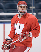 Adam Burish - The University of Wisconsin Badgers practiced on Wednesday, April 5, 2006, at the Bradley Center in Milwaukee, Wisconsin.  The Badgers won the Title by defeating Maine on April 6 and Boston College on April 8.
