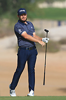 Tyrrell Hatton (ENG) on the 3rd during Round 3 of the Omega Dubai Desert Classic, Emirates Golf Club, Dubai,  United Arab Emirates. 26/01/2019<br /> Picture: Golffile | Thos Caffrey<br /> <br /> <br /> All photo usage must carry mandatory copyright credit (© Golffile | Thos Caffrey)