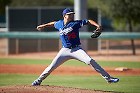 Los Angeles Dodgers pitcher Patrick Duester (76) during an Instructional League game against the Chicago White Sox on October 15, 2016 at the Camelback Ranch Complex in Glendale, Arizona.  (Mike Janes/Four Seam Images)