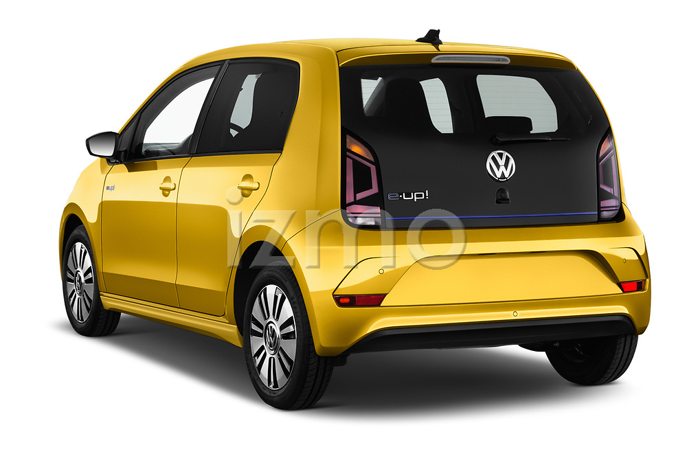 Car pictures of rear three quarter view of 2017 Volkswagen E-Up - 5 Door Hatchback Angular Rear