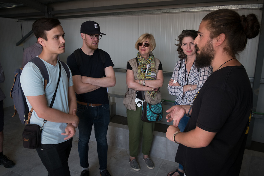 Mitch Moffit and Greg Brown, creators of ASAP Science YouTube Channel tour Kara Tepe Site on the Greek island of Lesvos, where hundreds of refugees are accommodated as they wait to their procedure. Interview subjects include Juan Herrera, IRC's Site Senior Officer.