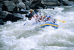 Rafters battling the Arkansas River through the Royal Gorge, CO