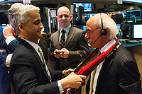 U.S. Soccer president Sunil Gulati during the centennial celebration of U. S. Soccer at the New York Stock Exchange in New York, NY, on April 02, 2013.