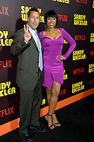Adam Sandler &amp; Jennifer Hudson at the premiere for &quot;Sandy Wexler&quot; at The Cinerama Dome. Los Angeles, USA 06 April  2017<br /> Picture: Paul Smith/Featureflash/SilverHub 0208 004 5359 sales@silverhubmedia.com