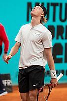Canadian Denis Shapovalov during Mutua Madrid Open 2018 at Caja Magica in Madrid, Spain. May 11, 2018. (ALTERPHOTOS/Borja B.Hojas) /NORTEPHOTOMEXICO