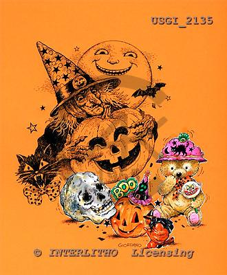 GIORDANO, CUTE ANIMALS, LUSTIGE TIERE, ANIMALITOS DIVERTIDOS, Halloween, paintings+++++,USGI2135,#AC#
