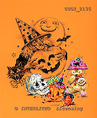 GIORDANO, CUTE ANIMALS, LUSTIGE TIERE, ANIMALITOS DIVERTIDOS, Halloween, paintings+++++,USGI2135,#AC#