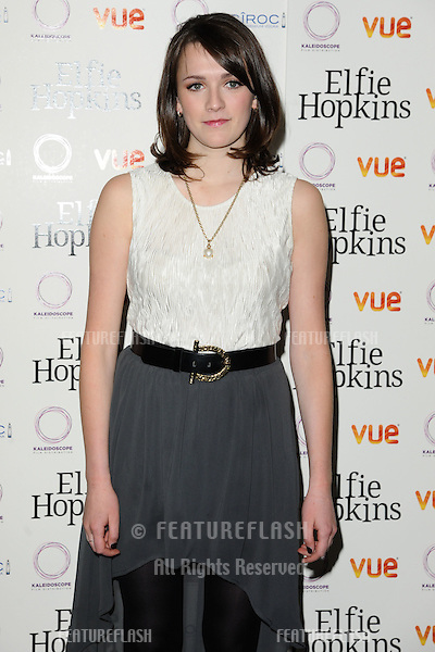 "Charlotte Ritchie arrives for the ""Elfie Hopkins "" premiere at the Vue cinema Leicester Square, London. 16/04/2012 Picture by: Steve Vas / Featureflash"