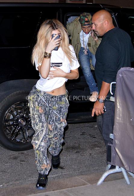 WWW.ACEPIXS.COM<br /> <br /> September 15 2015, New York City<br /> <br /> Kylie Jenner arrives at a downton hotel on September 15 2015 in New York City<br /> <br /> By Line: Curtis Means/ACE Pictures<br /> <br /> <br /> ACE Pictures, Inc.<br /> tel: 646 769 0430<br /> Email: info@acepixs.com<br /> www.acepixs.com