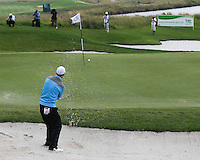Ross Fisher (ENG) makes a deft bunker shot to set up a putt for par during the Final Round of The Tshwane Open 2014 at the Els (Copperleaf) Golf Club, City of Tshwane, Pretoria, South Africa. Picture:  David Lloyd / www.golffile.ie