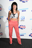 LONDON, UK. June 08, 2019: Halsey poses on the media line before performing at the Summertime Ball 2019 at Wembley Arena, London<br /> Picture: Steve Vas/Featureflash