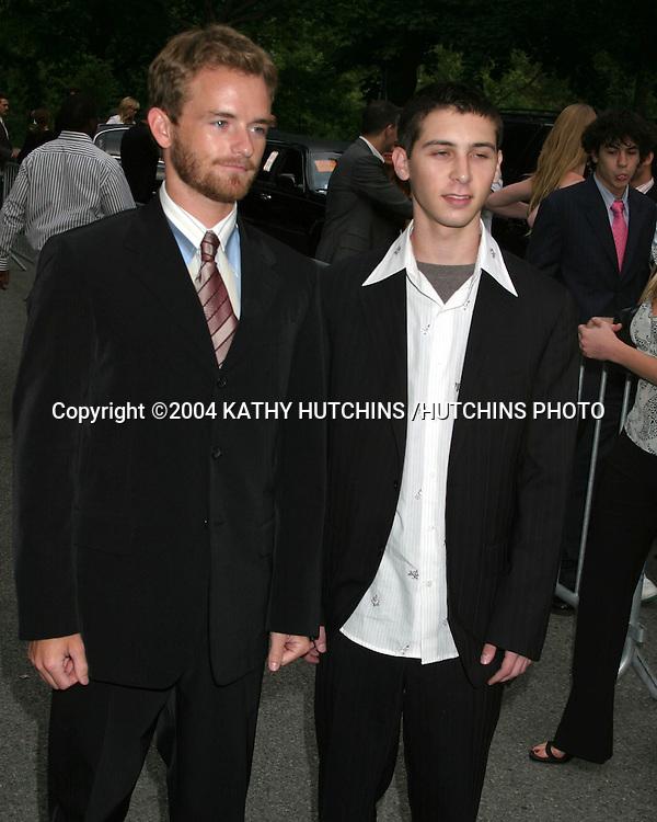 ©2004 KATHY HUTCHINS /HUTCHINS PHOTO.FOX-TV UPFRONTS.CENTRAL PARK BOATHOUSE.NEW YORK CITY, NY.MAY 20, 2004..CHRIS MASTERSON.JUSTIN BERFIELD