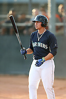 Alex Jackson #17 of the AZL Mariners gets ready to bat during a game against the AZL Giants at Peoria Sports Complex on July 10, 2014 in Peoria, Arizona. (Larry Goren/Four Seam Images)