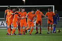 Brentwood players celebrate their second goal during Romford vs Brentwood Town, BetVictor League North Division Football at Parkside on 11th February 2020