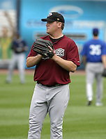 Sacramento RiverCats pitcher Matt Roney during practice before the Triple-A All-Star Game at Fifth Third Field on July 12, 2006 in Toledo, Ohio.  (Mike Janes/Four Seam Images)