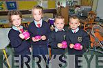Ballyduff Twins: Tea break for twins Chloe & Rebecca Mannix & Jordan & Shane Doherty at Ballyduff Central NS.