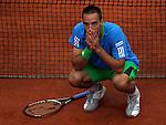 Tenis, Roland Garros 2011.Viktor Troicki (SRB) Vs. Andy Murray (GBR).Viktor Troicki, react.Paris, 31.05.2011..foto: Srdjan Stevanovic/Starsportphoto ©