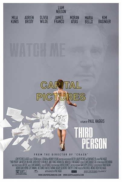 POSTER ART<br /> in Third Person (2013) <br /> *Filmstill - Editorial Use Only*<br /> CAP/FB<br /> Image supplied by Capital Pictures