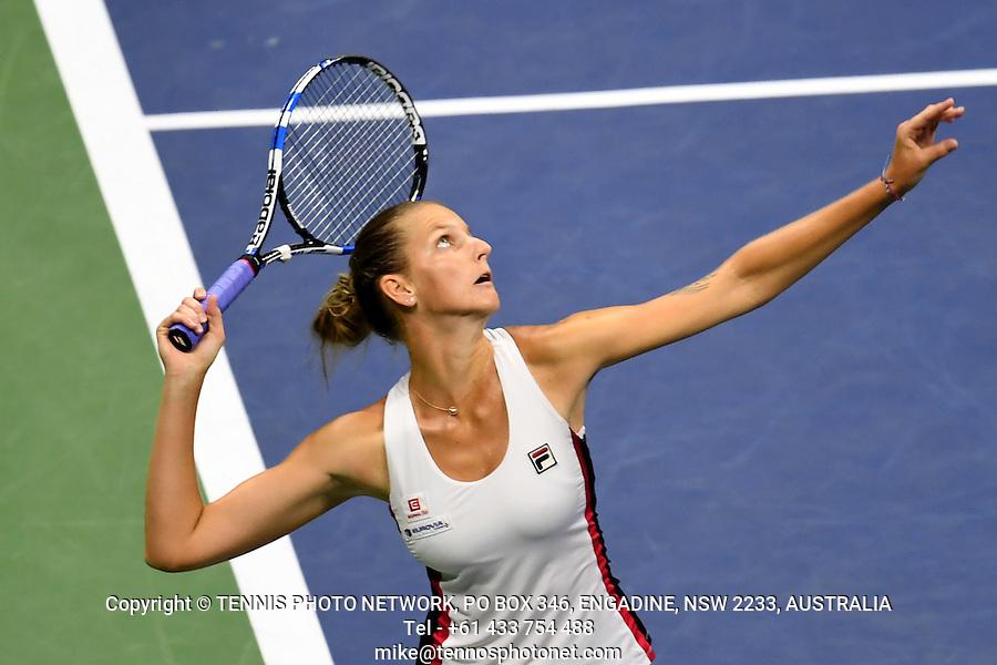 KAROLINA PLISKOVA (CZE)<br /> <br /> TENNIS - THE US OPEN - FLUSHING MEADOWS - NEW YORK - ATP - WTA - ITF - GRAND SLAM - OPEN - NEW YORK - USA - 2016  <br /> <br /> <br /> <br /> &copy; TENNIS PHOTO NETWORK