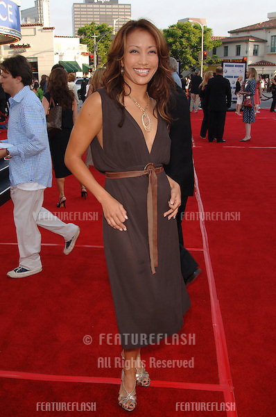 "Dancing with the Stars judge CARRIE ANN INABA at the world premiere, in Los Angeles, of ""Miami Vice."".July 20, 2006  Los Angeles, CA.© 2006 Paul Smith / Featureflash"