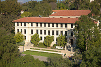 Occidental College's Johnson Hall.<br /> (Photo by Marc Campos, Occidental College Photographer)