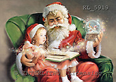 Interlitho, Simonetta, CHRISTMAS SANTA, SNOWMAN, paintings, santa, girl, book, KL5919,#x# Weihnachtsmänner, Papá Noel, Weihnachten, Navidad, illustrations, pinturas klassisch, clásico