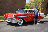 1956 Trailered Restored Senior (#69) – 1956 Chevrolet Bel Air Convertible registered to John Birkeland is pictured during 4th State Representative Chevy Show on Friday, July 1, 2016, in Fort Wayne, Indiana. (Photo by James Brosher)