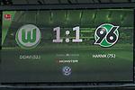 09.09.2017, Volkswagen Arena, Wolfsburg, GER, 1.FBL, VfL Wolfsburg vs Hannover 96<br /> <br /> im Bild<br /> Anzeigetafel / Endstand, Feature<br /> <br /> Foto &copy; nordphoto / Ewert