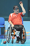 November 14 2011 - Guadalajara, Mexico: David Richer during a Boccia mathch at the 2011 Parapan American Games in Guadalajara, Mexico.  Photos: Matthew Murnaghan/Canadian Paralympic Committee