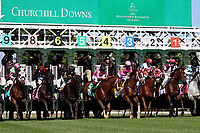 LOUISVILLE, KY - MAY 06: The field breaks from the gate at the start of the Woodford Reserve Turf Classic Stakes on Kentucky Derby Day at Churchill Downs on May 6, 2017 in Louisville, Kentucky. Divisidero #2, ridden by Julien Leparoux, won the race. (Photo by Mary Meek/Eclipse Sportswire/Getty Images)