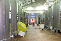 Fermentation tanks. Chateau Le Fournas Bernadotte, Medoc, Bordeaux, France