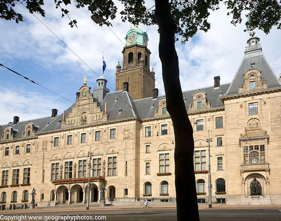 Historic Stadhuis building Rotterdam, Netherlands constructed 1920