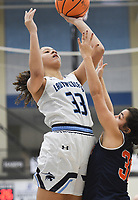 Har-Ber forward Pacious McDaniel (33) shoots, Friday, February 7, 2020 during a basketball game at Wildcat Arena at Har-Ber High School in Springdale. Check out nwaonline.com/prepbball/ for today's photo gallery.<br /> (NWA Democrat-Gazette/Charlie Kaijo)