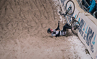 crashing in the infamous &quot;Pit&quot;<br /> <br /> Junior Men's Race<br /> Superprestige Zonhoven (BEL) 2018