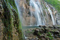 Veliki Slap, The Big Waterfall, viewed from the base, Plitvice Lakes NP, Croatia