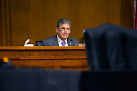 United States Senator Joe Manchin III (Democrat of West Virginia) speaks during the U.S. Senate Committee on Energy and Natural Resources hearing on Capitol Hill in Washington D.C., U.S., as they consider the nomination of Mark Menezes to be Deputy Secretary of the U.S. Department of Energy on Wednesday, May 20, 2020.  Credit: Stefani Reynolds / CNP/AdMedia