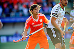 The Hague, Netherlands, June 06: Wouter Jolie #7 of The Netherlands defends during the match during the field hockey group match (Men - Group B) between Germany and The Netherlands on June 6, 2014 during the World Cup 2014 at Kyocera Stadium in The Hague, Netherlands. Final score 0-1 (0-1) (Photo by Dirk Markgraf / www.265-images.com) *** Local caption ***