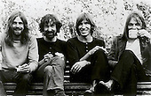 PINK FLOYD - L-R: Rick Wright, Nick Mason, Roger Waters, David Gilmour - London 1973.  Photo credit: GEMA Images/IconicPix