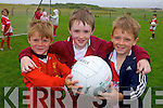 Enjoying the Cul Camp in Castlegregory on Thursday in the local GAA field were: Shane O'Herlihy, Eanna Murray and Darragh Crean.
