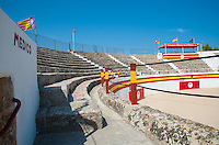Plaza del Toros, (bullring) at Alcudia, Majorca. September 2012.