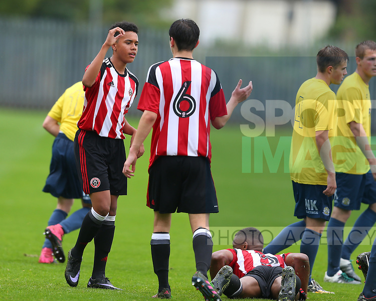 during the pre season friendly at the The Shirecliffe Academy Stadium, Sheffield. Picture date: July 29th, 2016. Pic Simon Bellis/Sportimage