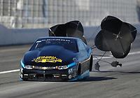 Feb 7, 2020; Pomona, CA, USA; NHRA pro stock driver Joey Grose during qualifying for the Winternationals at Auto Club Raceway at Pomona. Mandatory Credit: Mark J. Rebilas-USA TODAY Sports