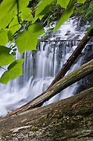 Wagner Falls at Wagner Falls Michigan State Scenic Site near Munising in Michigan Upper Peninsula.