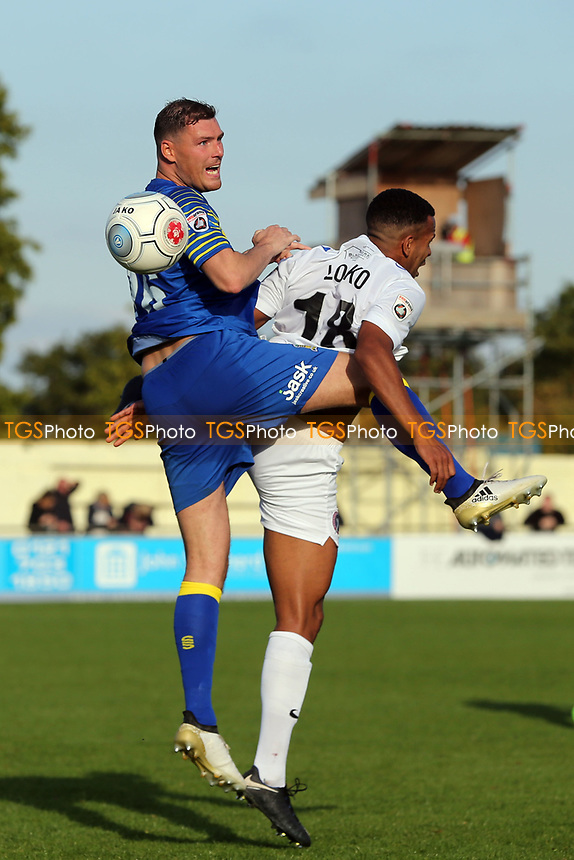 Callum Coyle of Solihull Moors and /Kevin Lokko of Dagenham during Solihull Moors vs Dagenham & Redbridge, Vanarama National League Football at the Autotech Stadium on 23rd September 2017