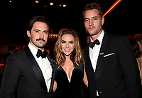 BEVERLY HILLS - JANUARY 7: L-R: Milo Ventimiglia, Chrishelle Stause and Justin Hartley attend the 2018 Fox Nominee Party for the 75th Annual Golden Globe Awards at the Fox Terrace on the Roof Deck of the Beverly Hilton on January 7, 2018, in Beverly Hills, California. (Photo by Frank Micelotta/Fox/PictureGroup)